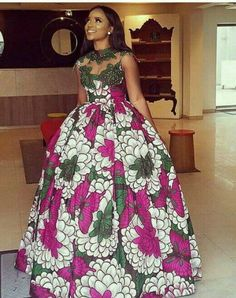Embellished African print, African print fabric,African print prom dress,African print fashion,Ankar Designed to give elegance and style for that special occassion. African Party Dresses, African Wedding Dress, African Print Dresses, African Dresses For Women, African Print Fashion, African Attire, African Fashion Dresses, African Women, Ankara Fashion
