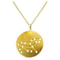 Golden Leo Constellation Necklace: Jewelry: Amazon.com