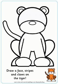 Complete the Picture - e.g. Tiger (Activity Village)