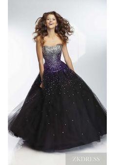 Fashion Natural Long Sleeveless Black Tube Evening Dress In Stock zkdress26451