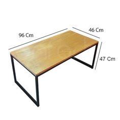 fullconfort mesa ratona puente industrial hierro madera