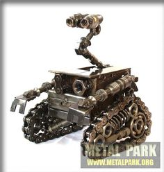Like this? There's more scrap metal art at geekologie.com