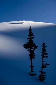 #snow #powder #tracks #trax #skiresort #pow #winter #shred