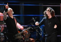 Ozzy Osborne and James Hetfield Photo - 25th Anniversary Rock & Roll Hall Of Fame Concert - Night 2 - Show