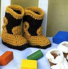 Crochet Cowboy Boots - Free Pattern