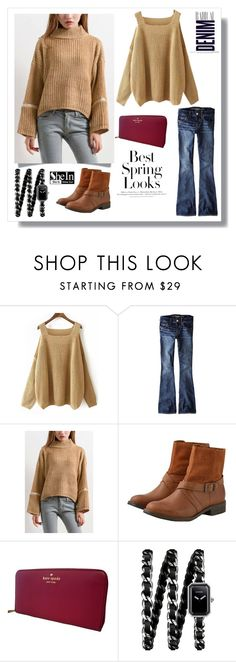 """""""www.shein.com"""" by bellamonica ❤ liked on Polyvore featuring H&M, American Eagle Outfitters, Kate Spade, Chanel and Alima"""