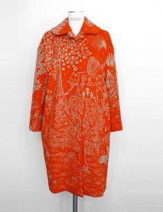 Minä Perhonen Orange Coat - Qa6335korang - Womens Coats - Women - by Mina Perhonen - Minä