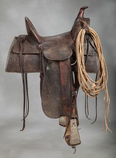 F.A. Meanea #15 Corner Stamped Saddle - Old West Events