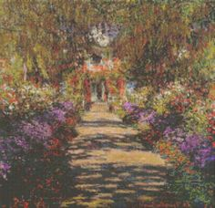 Main Path Through The Gardens At Giverny Cross by Avalon Cross Stitch on Etsy