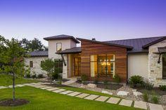Architecture Home Contemporary hacienda exterior - standing seam metal roof and cedar siding