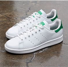 uk availability 8f47c 52e93 adidas Originals gives the classic Stan Smith a makeover through the use of  a honeycomb gloss texture on the white leather upper.