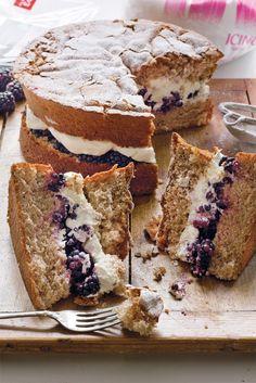 Cinnamon Cake With Blackberries | Camille Styles