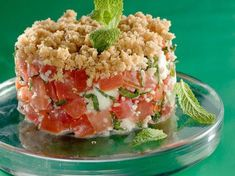 Tomato crumble with fresh goat cheese - Cooking Recipes Vegetarian Recipes, Cooking Recipes, Healthy Recipes, Food Porn, Ceviche, Cheese Recipes, Food Inspiration, Love Food, Entrees