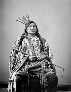 """""""Iron Hawk"""", also known as Amos Little, was a Hunkpapa Sioux. Photographed in 1872. He born in Montana in 1862 & died after May 13, 1907"""