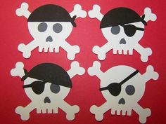 Die Cut Skull Cap and Eye Patch Tag Card Toppers by Paperquick, $2.00