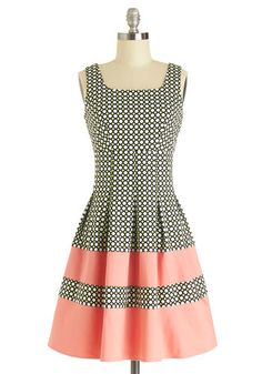 This could be a neat pattern mod! - dress inspiration - Lavish Luncheon Dress, @ModCloth