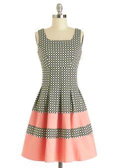Lavish almoço Vestido Darling - Print, plissados, Casual, A-line, sem mangas, Better, de comprimento médio, malha, rosa, preta, branca, Vestido de Verão