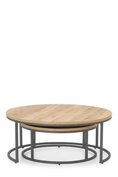 Light Oak Effect Bronx Nest Of 2 Coffee Tables