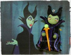 polymer clay Maleficent ...I love it