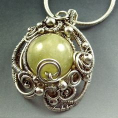 Green Aquamarine  Sterling Silver Sculpted by SamBraundJewellery, £180.00