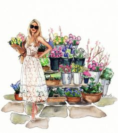 A friend did this pic of me as 'The Flower Girl on Peony Lane'.......