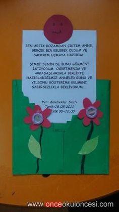 Anneler günü ve yıl sonu etkinliği davetiyesi ( Kelebekler sınıfı ) - Önce Okul Öncesi Ekibi Forum Sitesi - Biz Bu İşi Biliyoruz