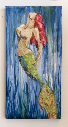 Merina-The Mermaid -Torn Paper Painting