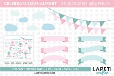 Download Wedding hot air balloon clipart, love clipart, valentine day today! #lapeticrafter #hotairballoon #valentinesday #loveclipart #instantdownload #designbundles Hot Air Balloon Clipart, Baby Shower Clipart, Valentines Day Dresses, Create Invitations, Illustrations, Design Bundles, School Design, Free Design, Design Elements