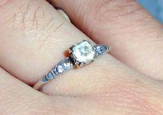 Art Deco UNCAS Engagement Ring Antique 1920s by MrsFullersAttic