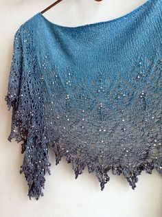 Ravelry: coppermoon's Fading at Midnight – Knitting Crochet Knitting Blogs, Lace Knitting, Knitting Stitches, Knitting Patterns, Crochet Patterns, Knitted Shawls, Crochet Scarves, Crochet Shawl, Crochet Lace