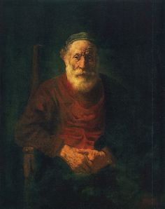 Rembrandt Portrait of Old Man in Red (1654, Hermitage, Leningrad)  I've stood in front of this painting and it is incredible. Loved it.