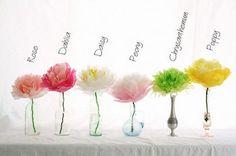 ATELIER CHERRY: Várias flores de papel