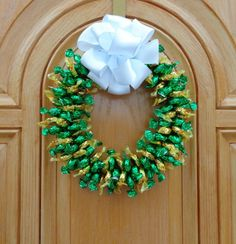 Candy Wreath Edible Unique Gift Decoration by CandyWreathsbyCarla