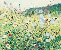 Olle Hjortzberg 1872-1959  Meadow flowers. (d)  Signed Olle Hjortzberg and dated -57. Panel 46 x 55 cm.