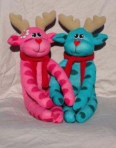 Rose & Remi Reindeer-reindeer, sock pet, reindeer sock pet