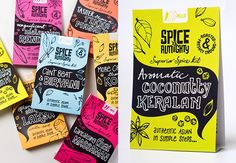 Create packaging for a new range of spice kits that were simple to use