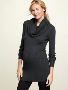 Ribbed cowlneck tunic $69.95
