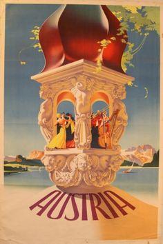 Original Vintage Posters -> Travel Posters -> Austria - AntikBar / for more inspiration visit http://pinterest.com/franpestel/boards/