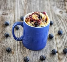 What's for breakfast? Whip up this Blueberry Muffin with Streusel Topping Mug Cake in a few minutes.