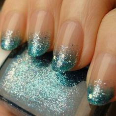 Glitter turquoise nails nails nail pretty nails nail art diy nails glitter nails nail ideas nail designs turquoise nails