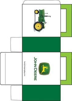 John Deere Favor Box 1, John Deere, Invitations - Free Printable Ideas from Family Shoppingbag.com