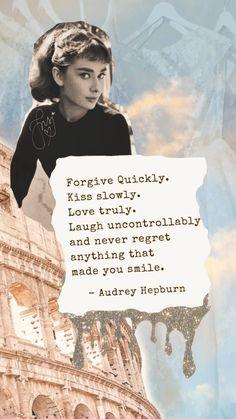 Aubrey Hepburn, Audrey Hepburn Photos, Quotes By Audrey Hepburn, Audrey Hepburn Wallpaper, Mood Quotes, Positive Quotes, Positive Thoughts, Famous Quotes, Best Quotes
