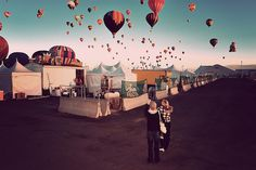 Back Alley at the Balloon Fiesta by a4gpa, via Flickr