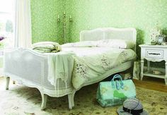 love this pale green bedroom....  christina.miss.creative