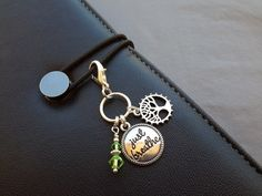 Just Breathe Planner Charm with Tree of Life Purse by ZipsandMore