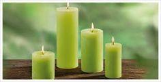 """Résultat de recherche d'images pour """"bougie"""" Pillar Candles, Images, Green Candles, Decorating Candles, Color, Searching, Apple, Taper Candles, Candles"""