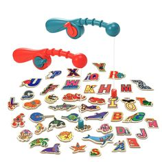 Conomus Magnetic Fishing Game for Kids 2 3 4 5 Year Old Boys Girls- Toddler Wooden Magnet Animals and Letters Educational Toys (46pcs) *** Read more at the image link. (This is an affiliate link)