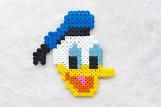 Disney Donald Duck hama perler, perler beads, bead sprite fridge magnet by Kipik on DaWanda