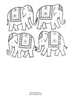 Marching Elephants Applique