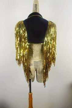 Online Shop gold coat tassels jacket coat Waistcoat DS costumes dance Christmas singer stage outfit Sequin vest over performance bar party Party Pictures, Burlesque Costumes, Dance Costumes, Halloween Costumes, Stage Outfits, Dance Outfits, Sequin Jacket, Sequin Cape, Costume Ideas